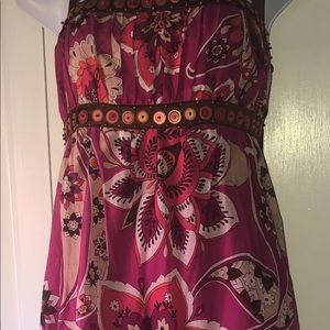 DESIGNED BY BEBE REAL SILK DRESS!!!!!!! NWT